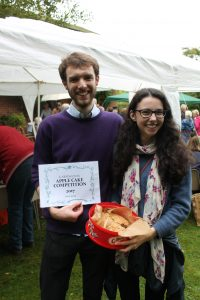 Tim with his prize winning Apple cake
