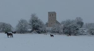 garsington in snow