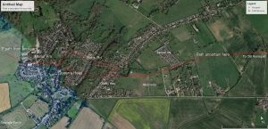 MAP for Roman Rd walk.3 possible footpath to Old Horsepath
